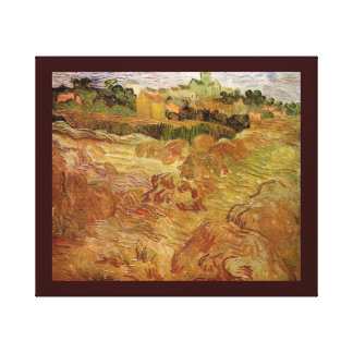 Van Gogh Wheat Fields with Auvers Vintage Fine Art Canvas Print