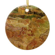 Van Gogh Wheat Fields with Auvers Vintage Fine Art Ceramic Ornament