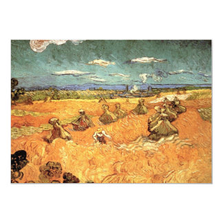 Van Gogh Wheat Stacks with Reaper Vintage Fine Art Card