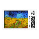 Van Gogh Wheatfield with Crows (F779) Fine Art Postage Stamps