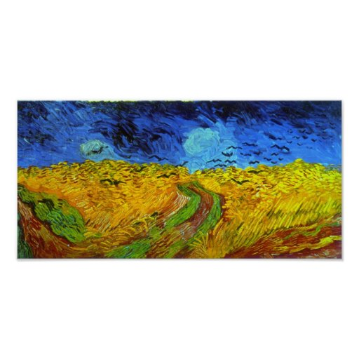 Van Gogh Wheatfield with Crows (F779) Fine Art Posters