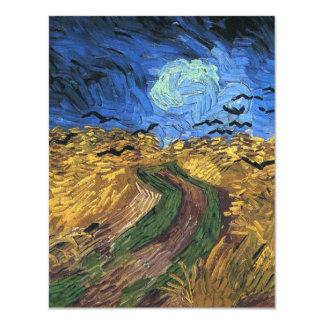 Van Gogh Wheatfield With Crows Invitations