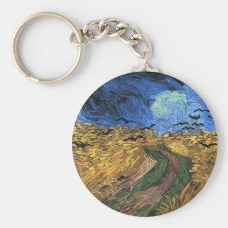 Van Gogh Wheatfield With Crows Key Chain