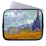 Van Gogh - Wheatfield With Cypresses Laptop Sleeves