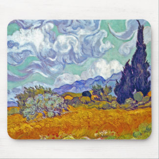 Van Gogh - Wheatfield With Cypresses Mouse Pad