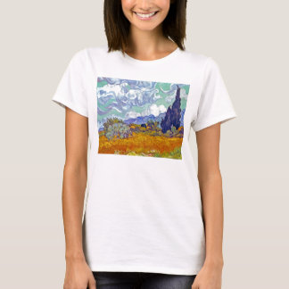 Van Gogh - Wheatfield With Cypresses T-Shirt