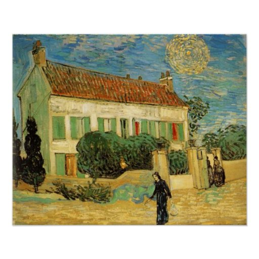 VAN GOGH - WHITE HOUSE AT NIGHT POSTERS