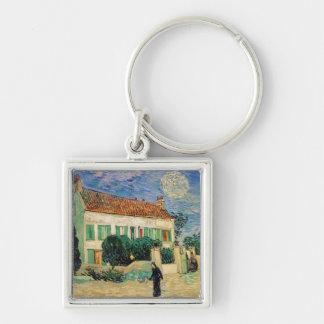 Van Gogh White house night Key Chain