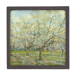 Van Gogh white orchard Jewelry Box