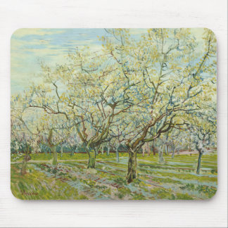 Van Gogh white orchard Mouse Pad