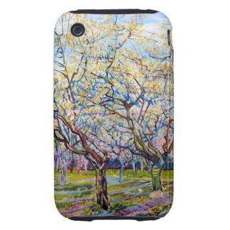 Van Gogh White Orchard Tough iPhone 3 Case