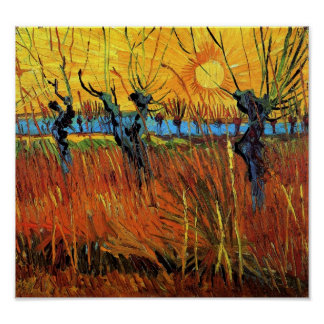 Van Gogh - Willows at Sunset Poster