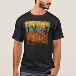 Van Gogh - Willows at Sunset T-Shirt
