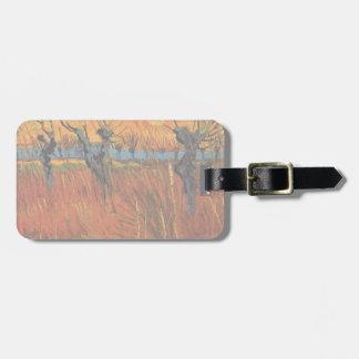 Van Gogh Willows at Sunset, Vintage Impressionism Bag Tag