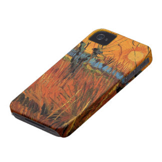 Van Gogh Willows at Sunset, Vintage Impressionism iPhone 4 Case-Mate Case
