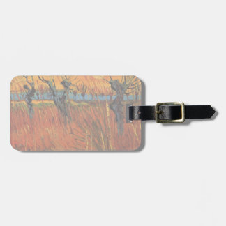 Van Gogh Willows at Sunset, Vintage Impressionism Luggage Tags