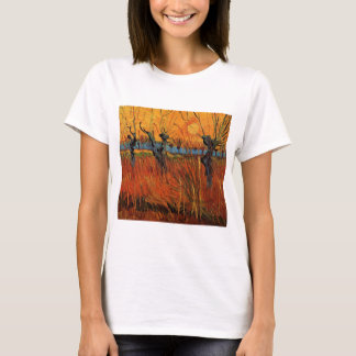 Van Gogh Willows at Sunset, Vintage Impressionism T-Shirt