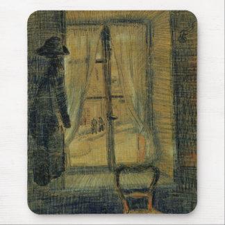 Van Gogh Window in Bataille Restaurant, Fine Art Mouse Pad