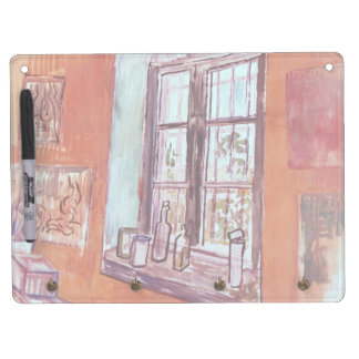 Van Gogh Window of Vincent's Studio at the Asylum Dry Erase Board With Keychain Holder