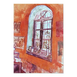 Van Gogh; Window of Vincent's Studio at the Asylum Custom Invitation