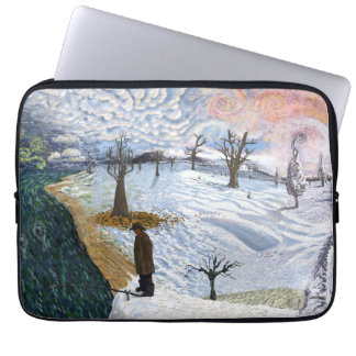 Van Gogh: Winter Landscape Laptop Computer Sleeves