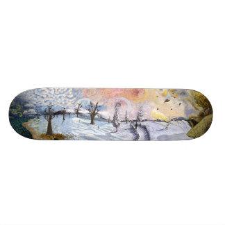 Van Gogh: Winter Landscape Skateboard Deck