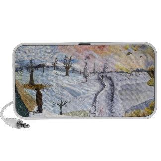Van Gogh: Winter Landscape Mini Speakers