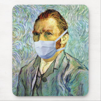 Van Gogh With Mask Mousepad
