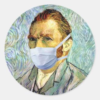 Van Gogh With Mask Sticker