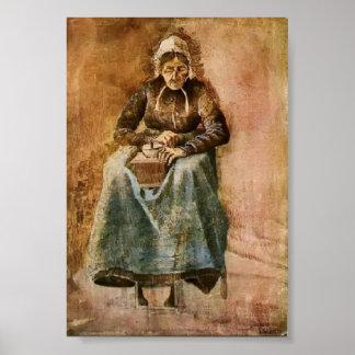 Van Gogh - Woman Grinding Coffee Poster