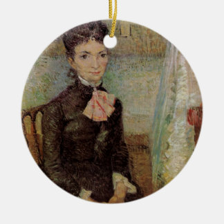 Van Gogh, Woman Sitting by a Cradle, Vintage Art Ceramic Ornament