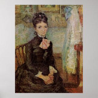 Van Gogh, Woman Sitting by a Cradle, Vintage Art Poster