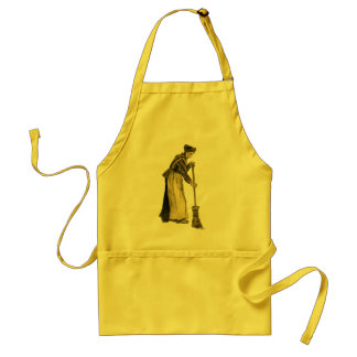Van Gogh Woman with a Broom Fine Art Adult Apron