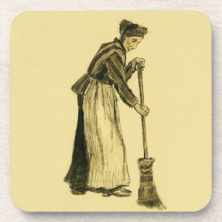 Van Gogh Woman with a Broom Fine Art Coaster