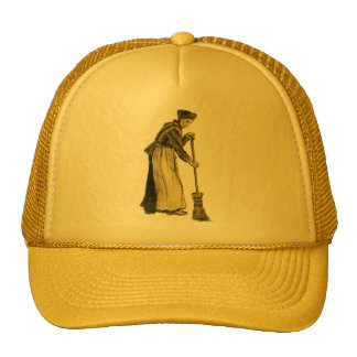 Van Gogh Woman with a Broom Fine Art Trucker Hats