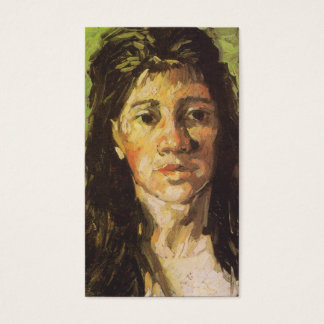 Van Gogh | Woman with her Hair Loose Business Card