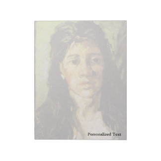 Van Gogh | Woman with her Hair Loose Notepad