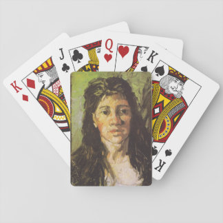 Van Gogh   Woman with her Hair Loose Playing Cards