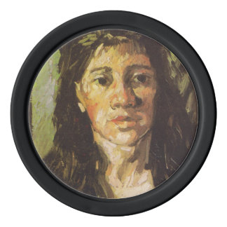 Van Gogh   Woman with her Hair Loose Poker Chips