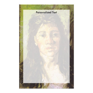 Van Gogh   Woman with her Hair Loose Stationery