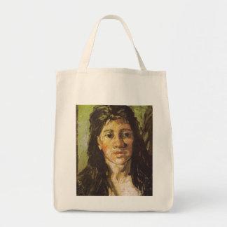 Van Gogh | Woman with her Hair Loose Tote Bag