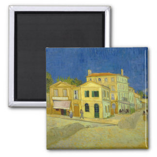 Van Gogh Yellow House (F464) 2 Inch Square Magnet