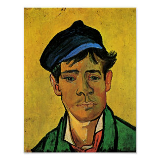 Van Gogh - Young Man with a Hat Posters