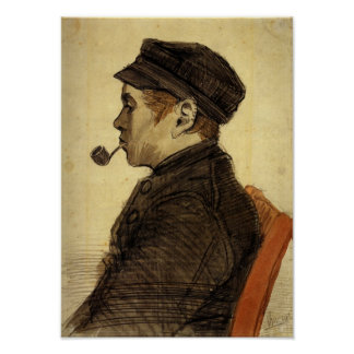 Van Gogh - Young Man with a Pipe Poster
