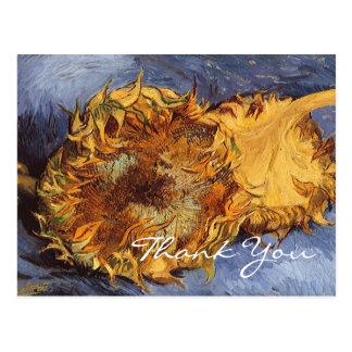 Van Gogh's 2 Cut Sunflowers Postcards