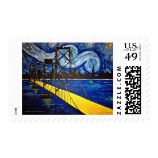 Van Gogh's Bay Bridge Stamps