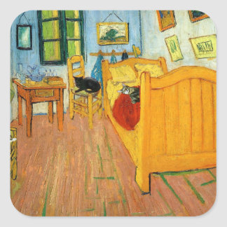 Van Gogh's Bed Square Sticker