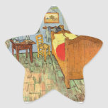 Van Gogh's Bedroom Star Sticker