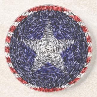 Van Gogh's Bonnie Blue Flag Sandstone Coaster