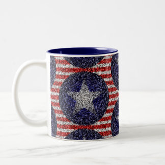 Van Gogh's Bonnie Blue Flag Two-Tone Coffee Mug